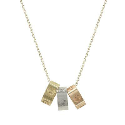 Kίτρινο Χρυσό Μενταγιόν με Κρικάκια Κ14 Μ93340