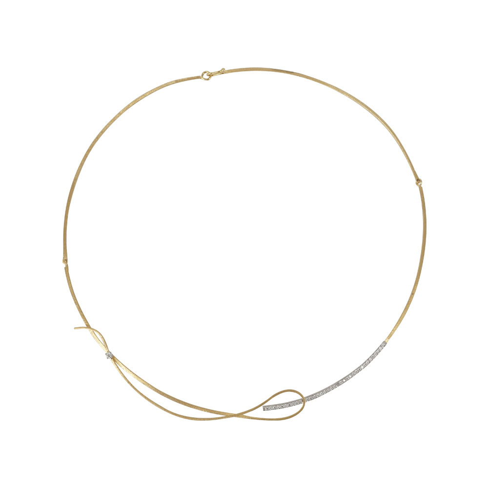 Δίχρωμο Χρυσό Κολιέ Κ9 KL655