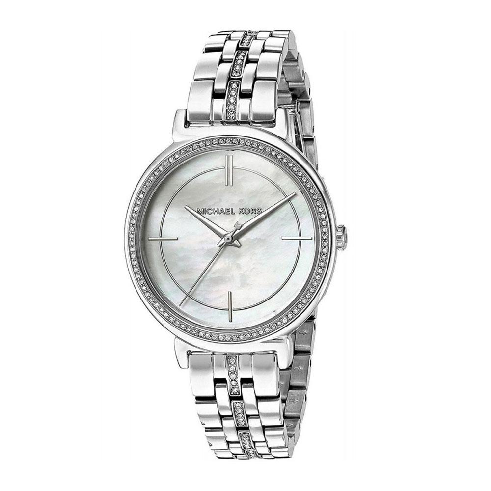 MICHAEL KORS Cinthia Crystals Silver Stainless Steel Bracelet MK3641