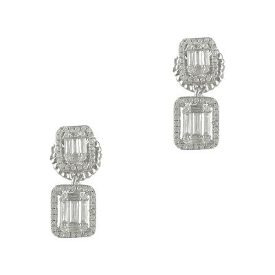 Luxenter Σκουλαρίκια από Ασήμι Κρεμαστά LUX130