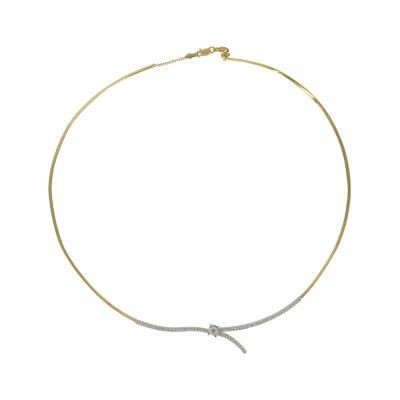 Δίχρωμο Χρυσό Κολιέ Κ9 KL KL657