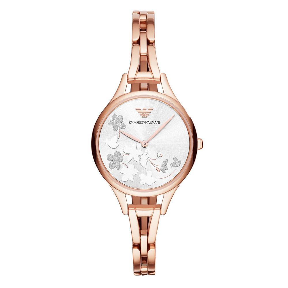 EMPORIO ARMANI Kappa Rose Gold Stainless Steel Bracelet AR11108