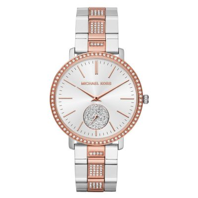 MICHAEL KORS Jaryn Crystals Two Tone Stainless Steel Bracelet MK3660