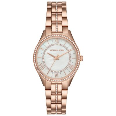 MICHAEL KORS Lauryn Crystals Rose Gold Stainless Steel Bracelet MK3716