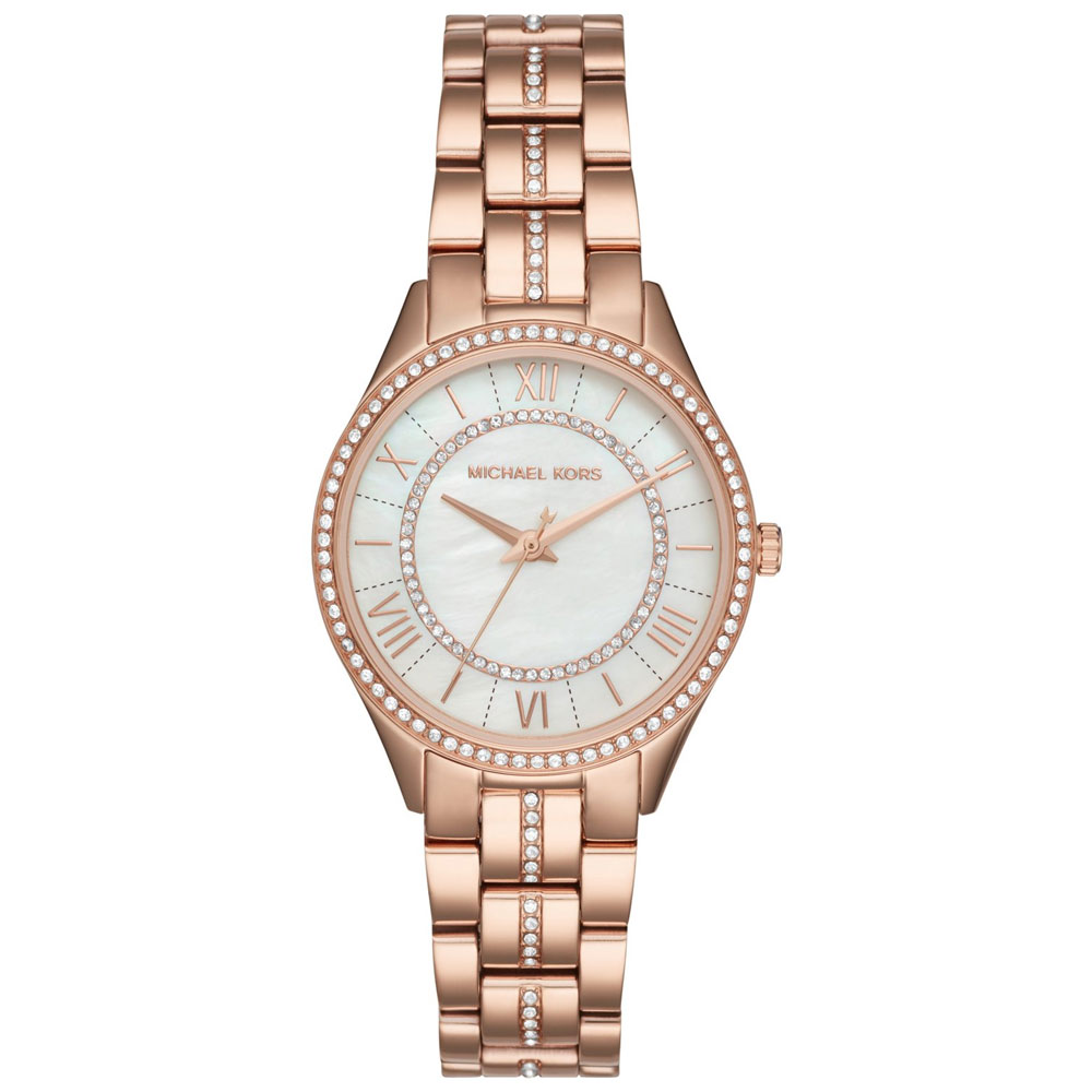 MICHAEL KORS Lauryn Crystals Rose Gold Stainless Steel Bracelet MK3716
