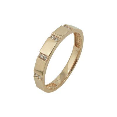 Κίτρινο Χρυσό Μοντέρνο Δαχτυλίδι Κ14 DX629