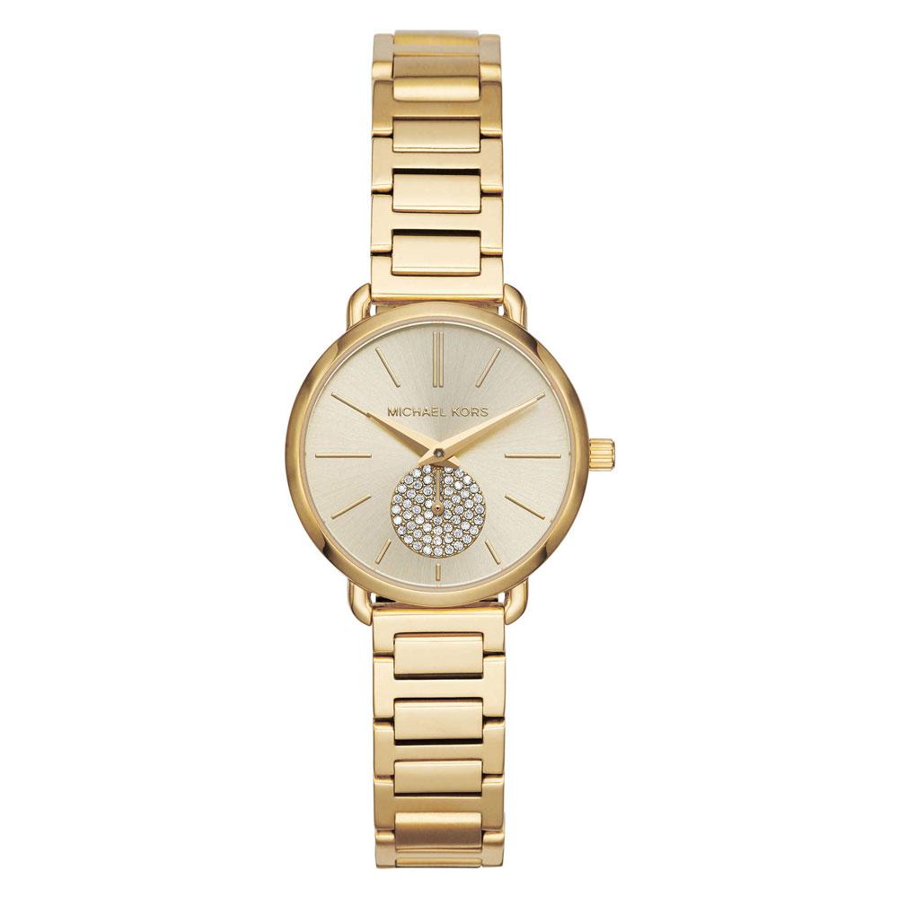 MICHAEL KORS Portia Crystals Gold Stainless Steel Bracelet MK3838