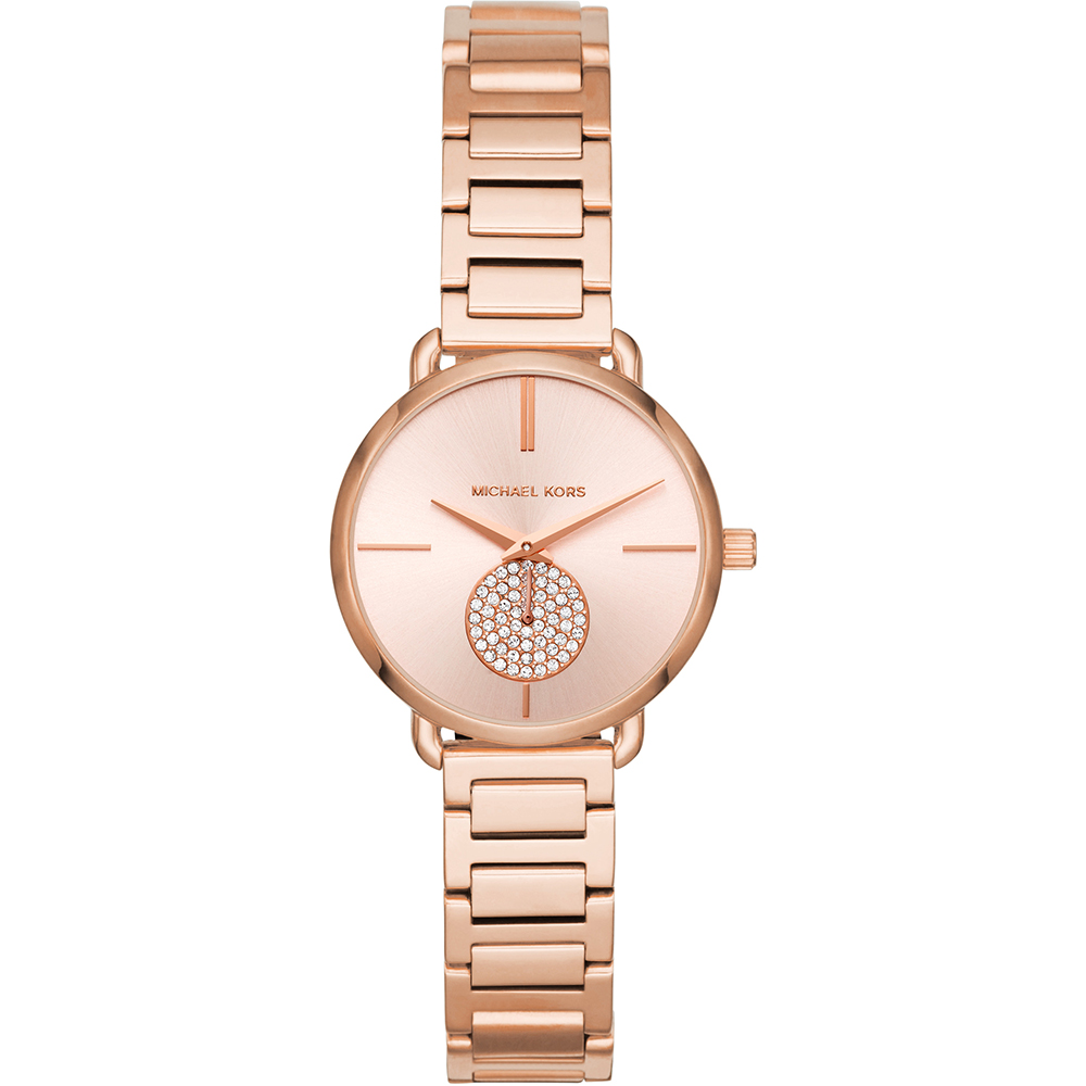 c06574d55c MICHAEL KORS Petite Portia Crystals Rose Gold Stainless Steel ...