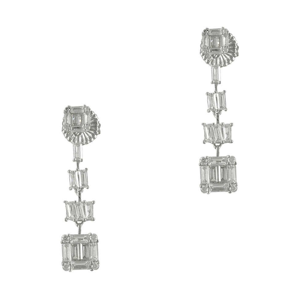 Luxenter Σκουλαρίκια από Ασήμι Κρεμαστά LUX128