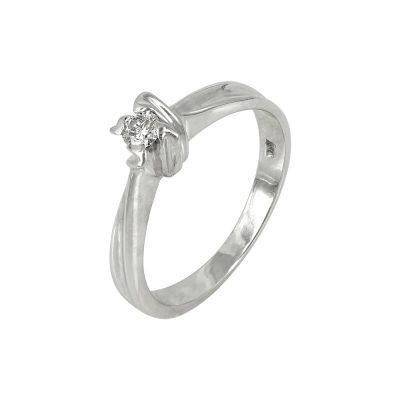 Moνόπετρο Δαχτυλίδι Κ14 Με Διαμάντι DDX216