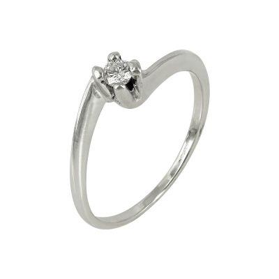 Moνόπετρο Δαχτυλίδι Κ14 Με Διαμάντι DDX217