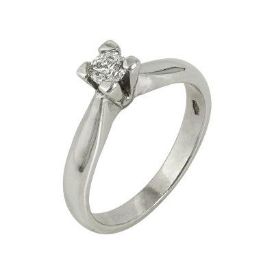 Moνόπετρο Δαχτυλίδι Κ14 Με Διαμάντι DDX218