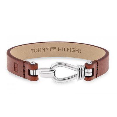 TOMMY HILFIGER Ανδρικό Δερμάτινο Βραχιόλι Με Ατσάλι 2701054