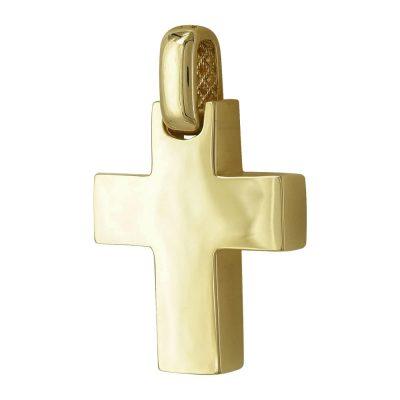 Σταυρός Βάπτισης Ανδρικός Σε Κίτρινο Χρύσο 14 Καρατίων ST2396 f0ba4131a31