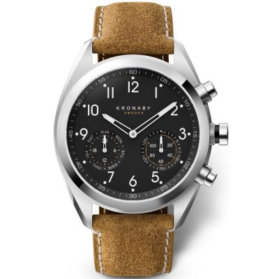 KRONABY Smart-Watch Arex Brown Leather Strap A1000-3112