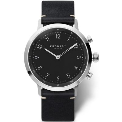 KRONABY Smart-Watch Nord Black Leather Strap A1000-3126