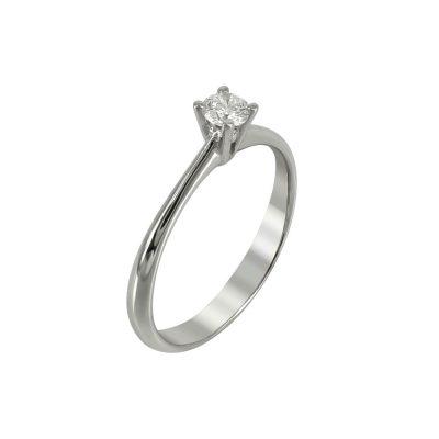 Μονόπετρο Δαχτυλίδι Με Διαμάντια Brilliant K18 DDX222