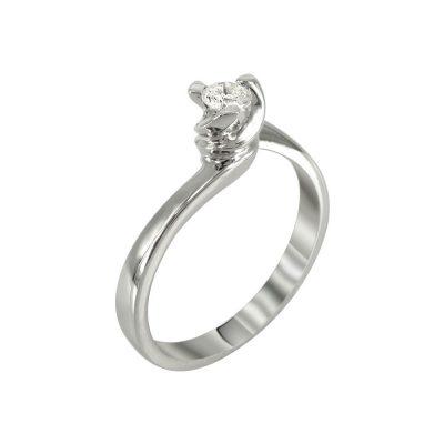 Μονόπετρο Δαχτυλίδι Με Διαμάντια Brilliant K18 DDX226