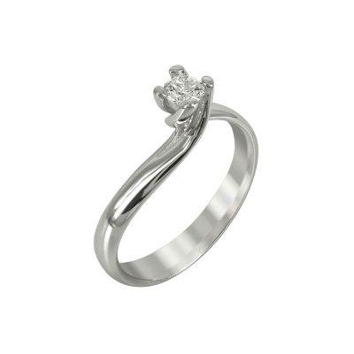 Μονόπετρο Δαχτυλίδι Με Διαμάντια Brilliant K18 DDX221