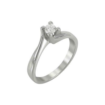 Μονόπετρο Δαχτυλίδι Με Διαμάντια Brilliant K18 DDX219