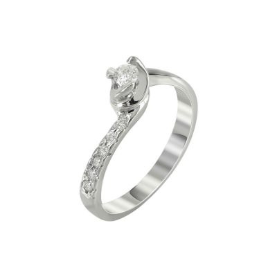 Μονόπετρο Δαχτυλίδι Με Διαμάντια Brilliant K18 DDX223