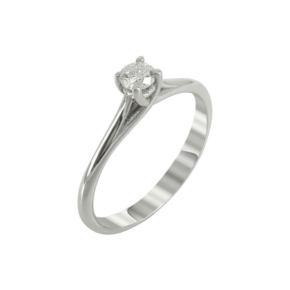 Μονόπετρο Δαχτυλίδι Με Διαμάντια Brilliant K18 DDX224