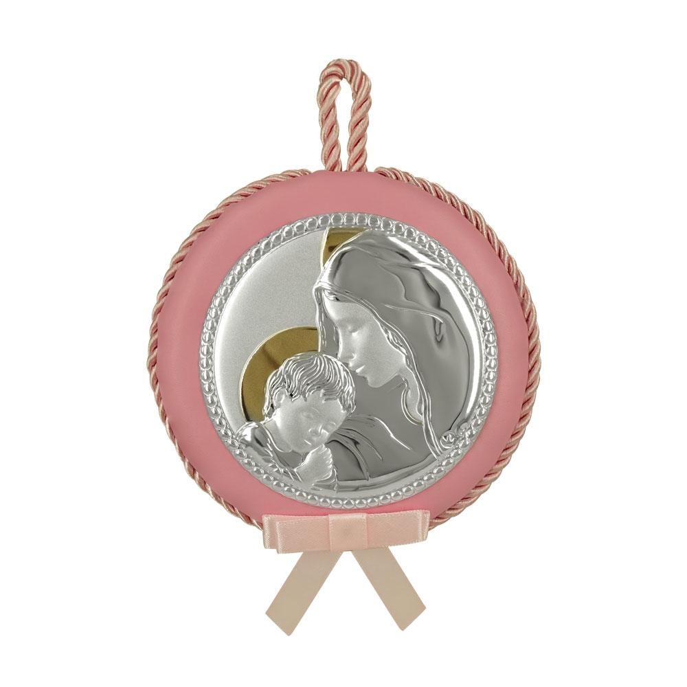 Princelino Ροζ Ασημένια Εικόνα Κούνιας Για Κορίτσι Με Μουσική MA/DM606-LR