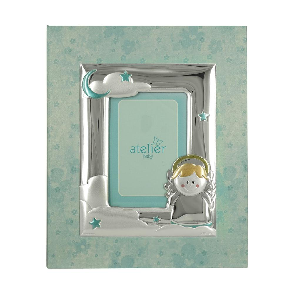 Atelier Παιδικό Άλμπουμ Για Αγόρι με Χάρτινο Εξώφυλλο και Κορνίζα από Ασήμι LE/A451C