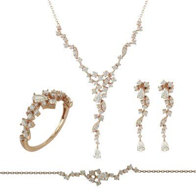 Ροζ Χρυσό Σετ K14 SET175
