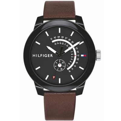 TOMMY HILFIGER Denim Brown Leather Strap 1791478