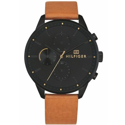 TOMMY HILFIGER Chase Brown Leather Strap 1791486