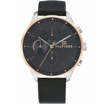 TOMMY HILFIGER Chase Black Leather Strap 1791488