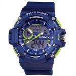 XONIX Blue Rubber Strap MX-005