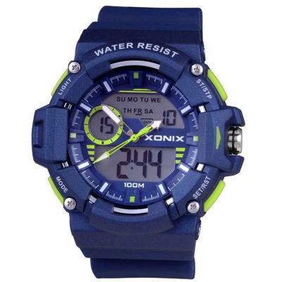 XONIX Blue Rubber Strap MX-005