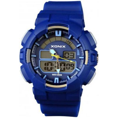 XONIX Blue Rubber Strap NZ-005