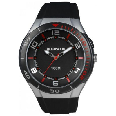 XONIX Black Rubber Strap UF-003