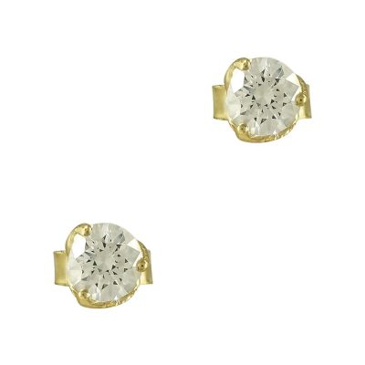 Κίτρινα Χρυσά Σκουλαρίκια Κ9 SK757