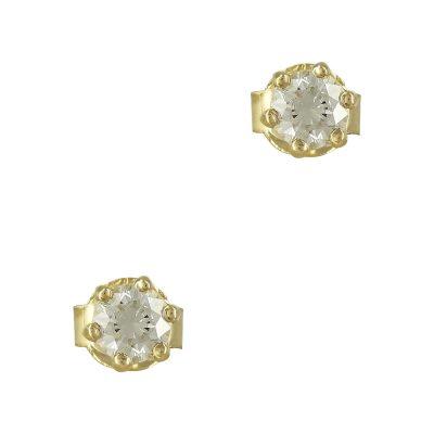 Κίτρινα Χρυσά Σκουλαρίκια Κ9 SK756