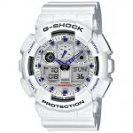 CASIO G-SHOCK White Rubber Strap GA-100A-7AER