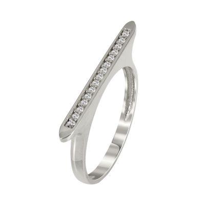 Λευκόχρυσο Μοντέρνο Δαχτυλίδι Κ14 DX90460