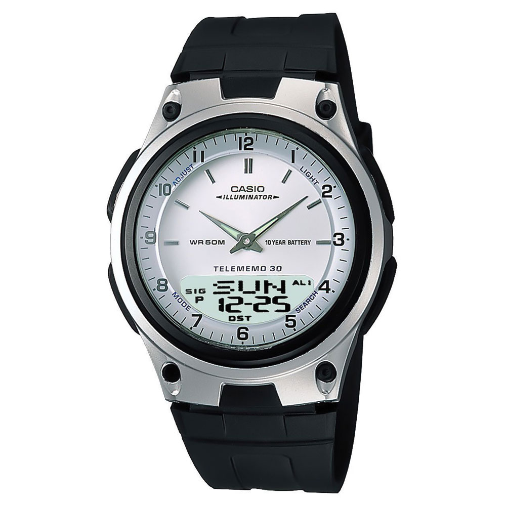 CASIO Collection Black Rubber Strap AW-80-7AV