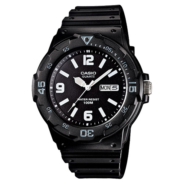 CASIO Collection Black Rubber MRW-200H-1B2V