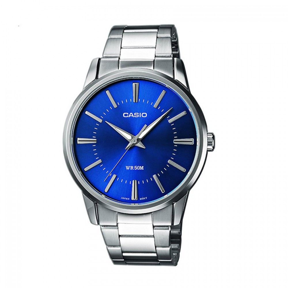 CASIO Collection Stainless Steel Bracelet Blue Dial MTP-1303PD-2AVEF