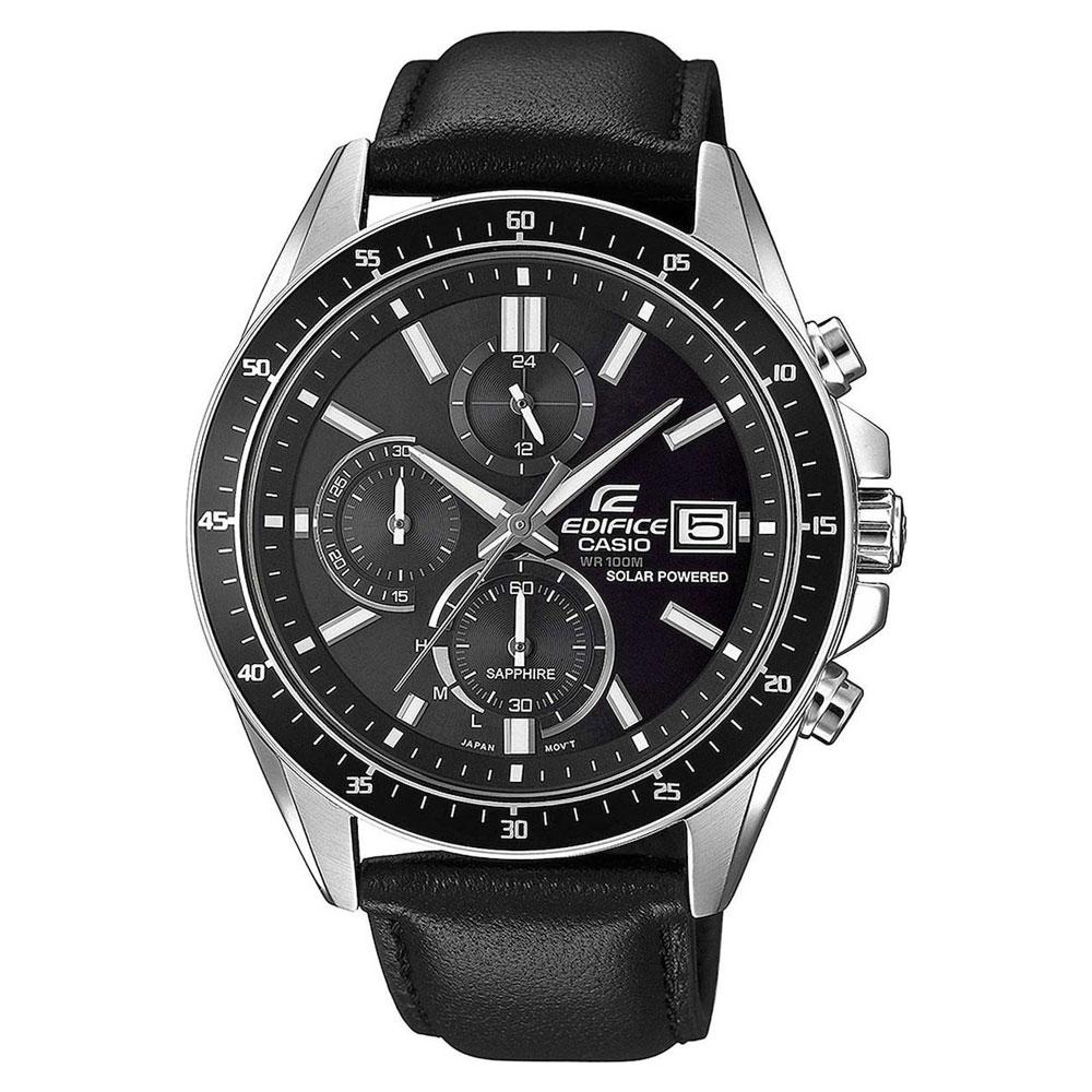 CASIO Edifice Solar Black Leather Chronograph EFS-S510L-1AVUEF