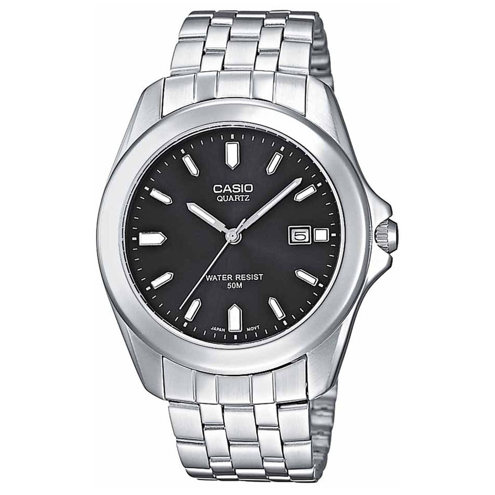CASIO Collection Stainless Steel Bracelet Black Dial MTP-1222A-1AV
