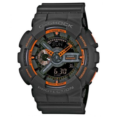 CASIO G-Shock Black Rubber Strap GA-110TS-1A4ER