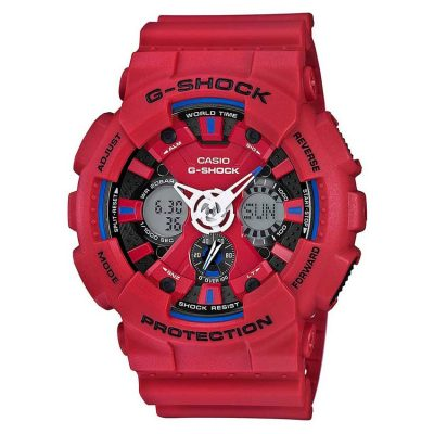 CASIO G-SHOCK Red Rubber Strap GA-120TR-4AER