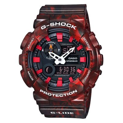 CASIO G-SHOCK Red Rubber Strap GAX-100MB-4AER