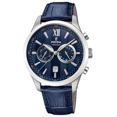 FESTINA Blue Leather Chronograph F16996-3