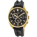 FESTINA Gold Black Leather Chronograph F20268/3